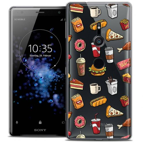 "Coque Crystal Gel Sony Xperia XZ2 (5.7"") Extra Fine Foodie - Fast Food"