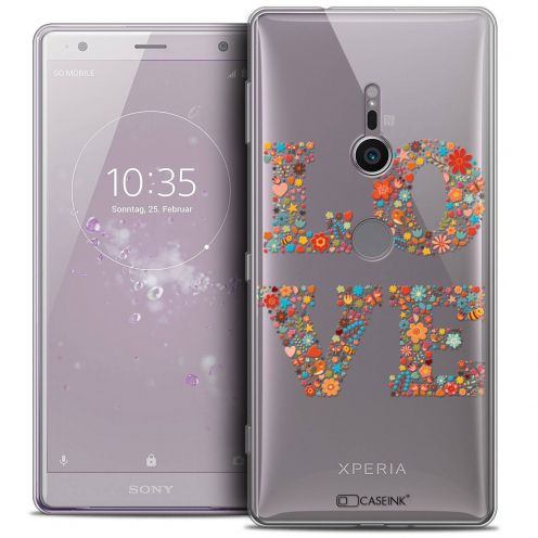 "Coque Crystal Gel Sony Xperia XZ2 (5.7"") Extra Fine Summer - Love Flowers"