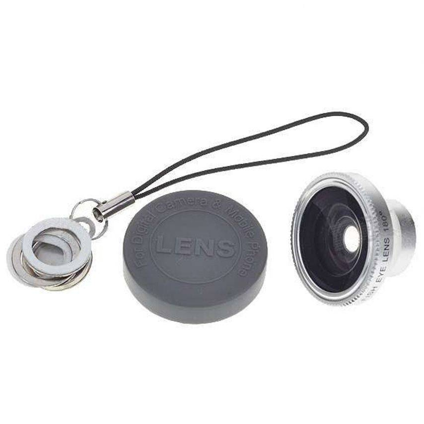 Zoom sur Objectif Fish-Eye 180° Magnetique Photo / Video iPhone 3G / iPhone 4 / 4S
