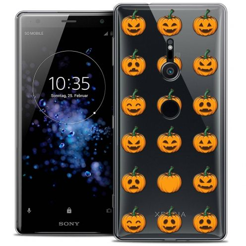 "Coque Crystal Gel Sony Xperia XZ2 (5.7"") Extra Fine Halloween - Smiley Citrouille"