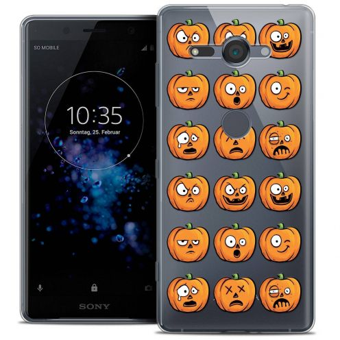 "Coque Crystal Gel Sony Xperia XZ2 Compact (5.0"") Extra Fine Halloween - Cartoon Citrouille"