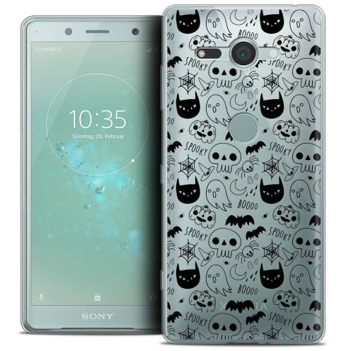 "Coque Crystal Gel Sony Xperia XZ2 Compact (5.0"") Extra Fine Halloween - Spooky"