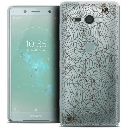 """Coque Crystal Gel Sony Xperia XZ2 Compact (5.0"""") Extra Fine Halloween - Spooky Spider"""