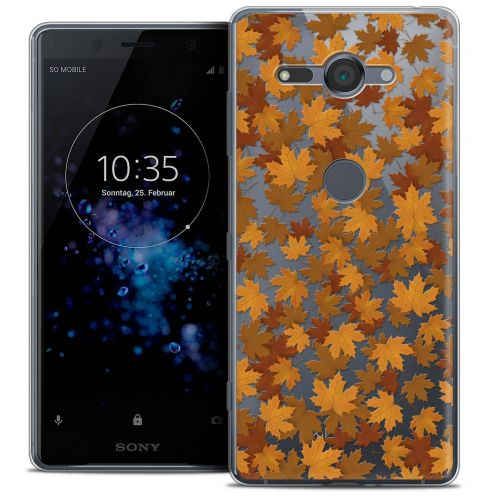 """Coque Crystal Gel Sony Xperia XZ2 Compact (5.0"""") Extra Fine Autumn 16 - Feuilles"""