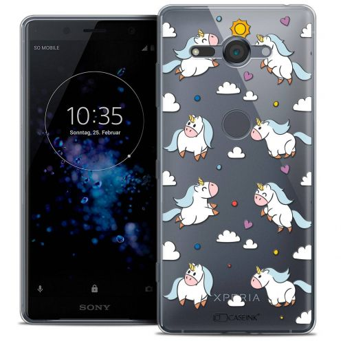 """Coque Crystal Gel Sony Xperia XZ2 Compact (5.0"""") Extra Fine Fantasia - Licorne In the Sky"""