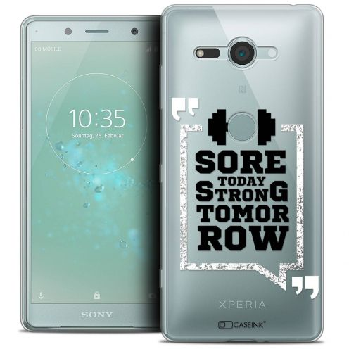 "Coque Crystal Gel Sony Xperia XZ2 Compact (5.0"") Extra Fine Quote - Strong Tomorrow"