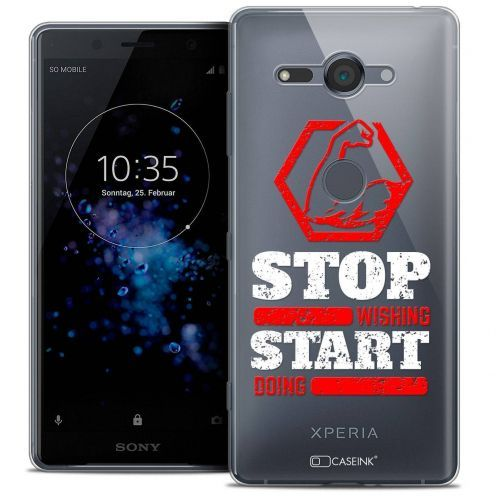 """Coque Crystal Gel Sony Xperia XZ2 Compact (5.0"""") Extra Fine Quote - Start Doing"""
