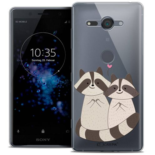 "Coque Crystal Gel Sony Xperia XZ2 Compact (5.0"") Extra Fine Sweetie - Racoon Love"