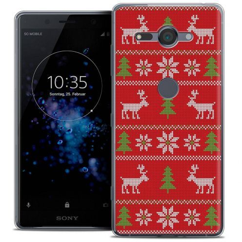 "Coque Crystal Gel Sony Xperia XZ2 Compact (5.0"") Extra Fine Noël 2017 - Couture Rouge"