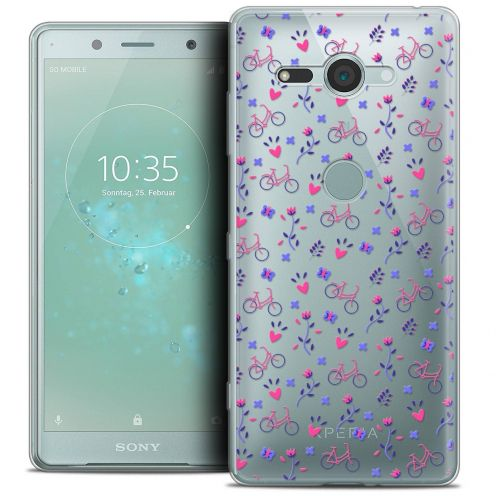 "Coque Crystal Gel Sony Xperia XZ2 Compact (5.0"") Extra Fine Love - Bicycle"