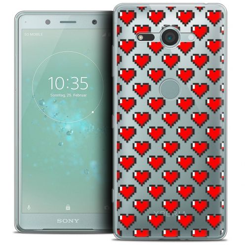 """Coque Crystal Gel Sony Xperia XZ2 Compact (5.0"""") Extra Fine Love - Pixel Art"""
