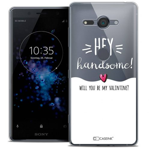 """Coque Crystal Gel Sony Xperia XZ2 Compact (5.0"""") Extra Fine Love - Hey Handsome !"""