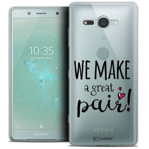 """Coque Crystal Gel Sony Xperia XZ2 Compact (5.0"""") Extra Fine Love - We Make Great Pair"""