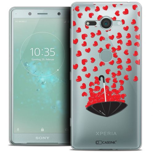 """Coque Crystal Gel Sony Xperia XZ2 Compact (5.0"""") Extra Fine Love - Parapluie d'Amour"""