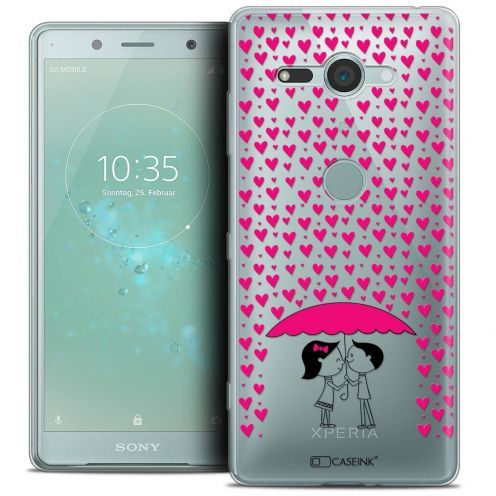 """Coque Crystal Gel Sony Xperia XZ2 Compact (5.0"""") Extra Fine Love - Pluie d'Amour"""