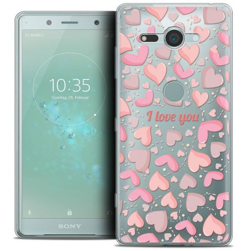 """Coque Crystal Gel Sony Xperia XZ2 Compact (5.0"""") Extra Fine Love - I Love You"""