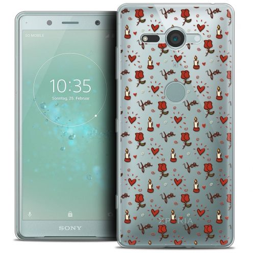 """Coque Crystal Gel Sony Xperia XZ2 Compact (5.0"""") Extra Fine Love - Bougies et Roses"""