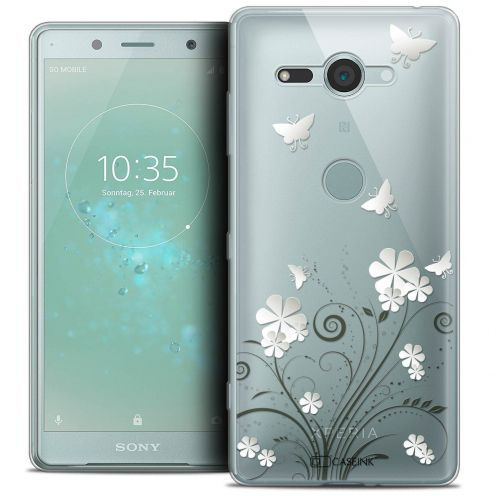 "Coque Crystal Gel Sony Xperia XZ2 Compact (5.0"") Extra Fine Summer - Papillons"