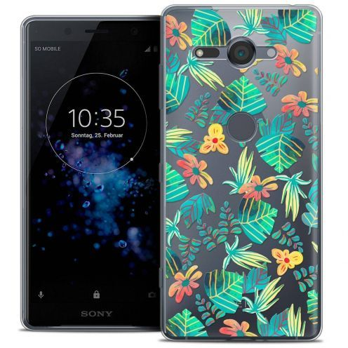 "Coque Crystal Gel Sony Xperia XZ2 Compact (5.0"") Extra Fine Spring - Tropical"