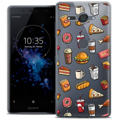 """Coque Crystal Gel Sony Xperia XZ2 Compact (5.0"""") Extra Fine Foodie - Fast Food"""