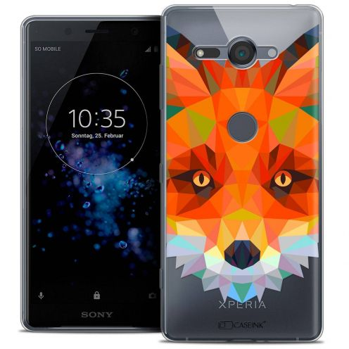 "Coque Crystal Gel Sony Xperia XZ2 Compact (5.0"") Extra Fine Polygon Animals - Renard"