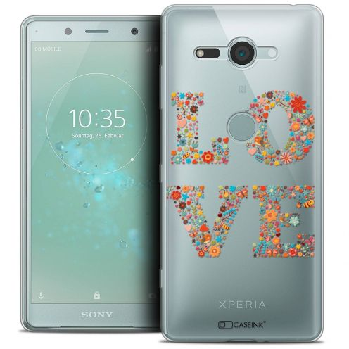 """Coque Crystal Gel Sony Xperia XZ2 Compact (5.0"""") Extra Fine Summer - Love Flowers"""
