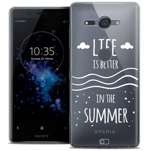 """Coque Crystal Gel Sony Xperia XZ2 Compact (5.0"""") Extra Fine Summer - Life's Better"""