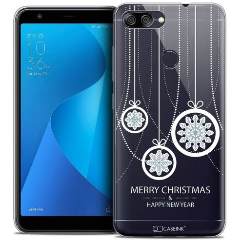 "Coque Crystal Gel Asus Zenfone Max Plus (M1) ZB570TL (5.7"") Extra Fine Noël 2017 - Christmas Balls"