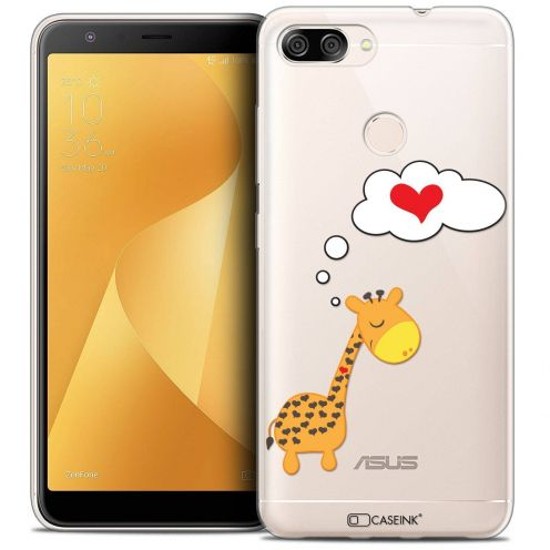 "Coque Crystal Gel Asus Zenfone Max Plus (M1) ZB570TL (5.7"") Extra Fine Love - Girafe Amoureuse"