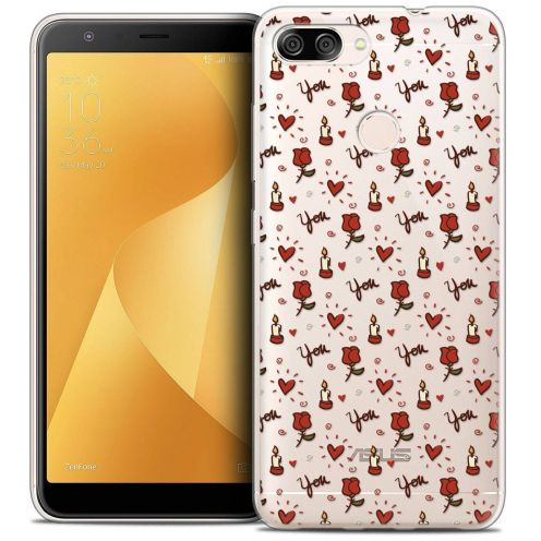 """Coque Crystal Gel Asus Zenfone Max Plus (M1) ZB570TL (5.7"""") Extra Fine Love - Bougies et Roses"""