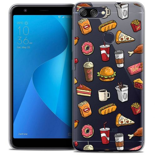 "Coque Crystal Gel Asus Zenfone Max Plus (M1) ZB570TL (5.7"") Extra Fine Foodie - Fast Food"