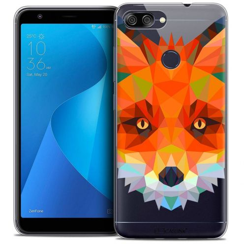 "Coque Crystal Gel Asus Zenfone Max Plus (M1) ZB570TL (5.7"") Extra Fine Polygon Animals - Renard"