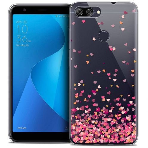 "Coque Crystal Gel Asus Zenfone Max Plus (M1) ZB570TL (5.7"") Extra Fine Sweetie - Heart Flakes"