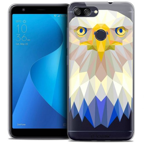 "Coque Crystal Gel Asus Zenfone Max Plus (M1) ZB570TL (5.7"") Extra Fine Polygon Animals - Aigle"
