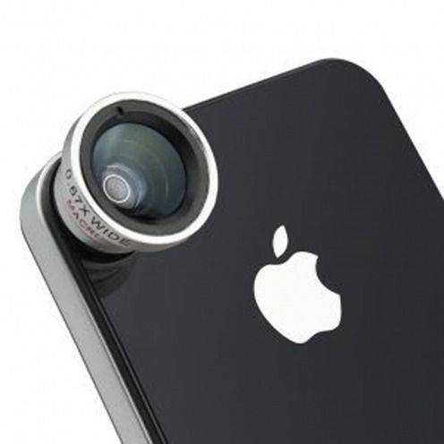 Vue complémentaire de Objectif Macro + Grand-Angle Photo / Video iPhone 3G / iPhone 4 / 4S