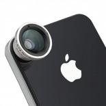 Vue portée de Objectif Macro + Grand-Angle Photo / Video iPhone 3G / iPhone 4 / 4S
