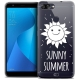 "Coque Crystal Gel Asus Zenfone Max Plus (M1) ZB570TL (5.7"") Extra Fine Summer - Sunny Summer"