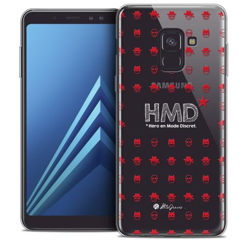 "Coque Gel Samsung Galaxy A8+ (2018) A730 (6.0"") Extra Fine Petits Grains® - HMD* Hero en Mode Discret"