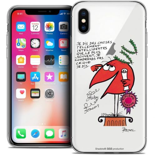"Coque Gel Apple iPhone Xs / X (5.8"") Extra Fine Les Shadoks® - Intelligent"