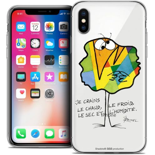 "Coque Gel Apple iPhone Xs / X (5.8"") Extra Fine Les Shadoks® - Chaud ou Froid"