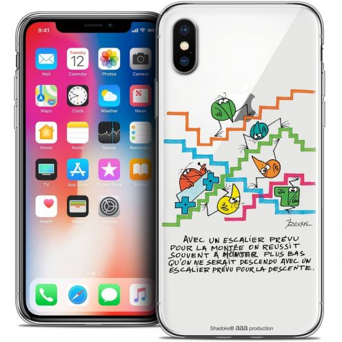 "Coque Gel Apple iPhone Xs / X (5.8"") Extra Fine Les Shadoks® - L'escalier"