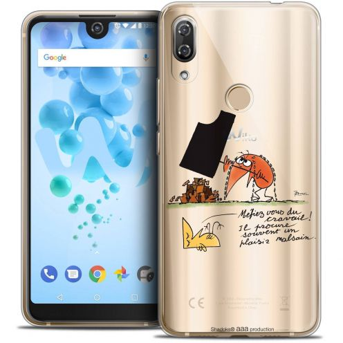 """Coque Gel Wiko View 2 PRO (6.0"""") Extra Fine Les Shadoks® - Le Travail"""
