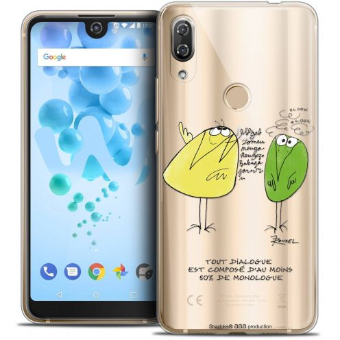 """Coque Gel Wiko View 2 PRO (6.0"""") Extra Fine Les Shadoks® - Le Dialogue"""