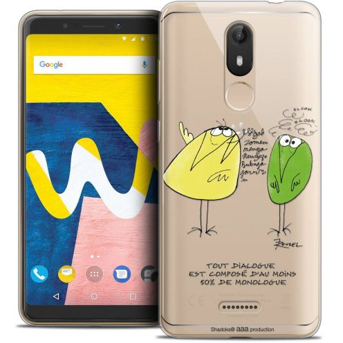"Coque Gel Wiko View LITE (5.45"") Extra Fine Les Shadoks® - Le Dialogue"