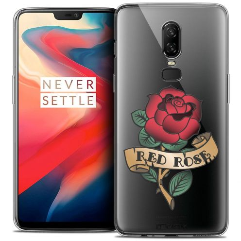 """Coque Crystal Gel OnePlus 6 (6.28"""") Extra Fine Tatoo Lover - Red Rose"""