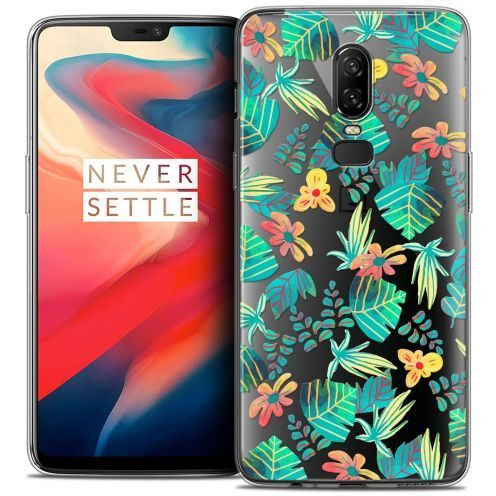 "Coque Crystal Gel OnePlus 6 (6.28"") Extra Fine Spring - Tropical"