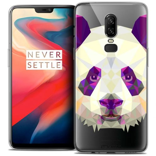 "Coque Crystal Gel OnePlus 6 (6.28"") Extra Fine Polygon Animals - Panda"
