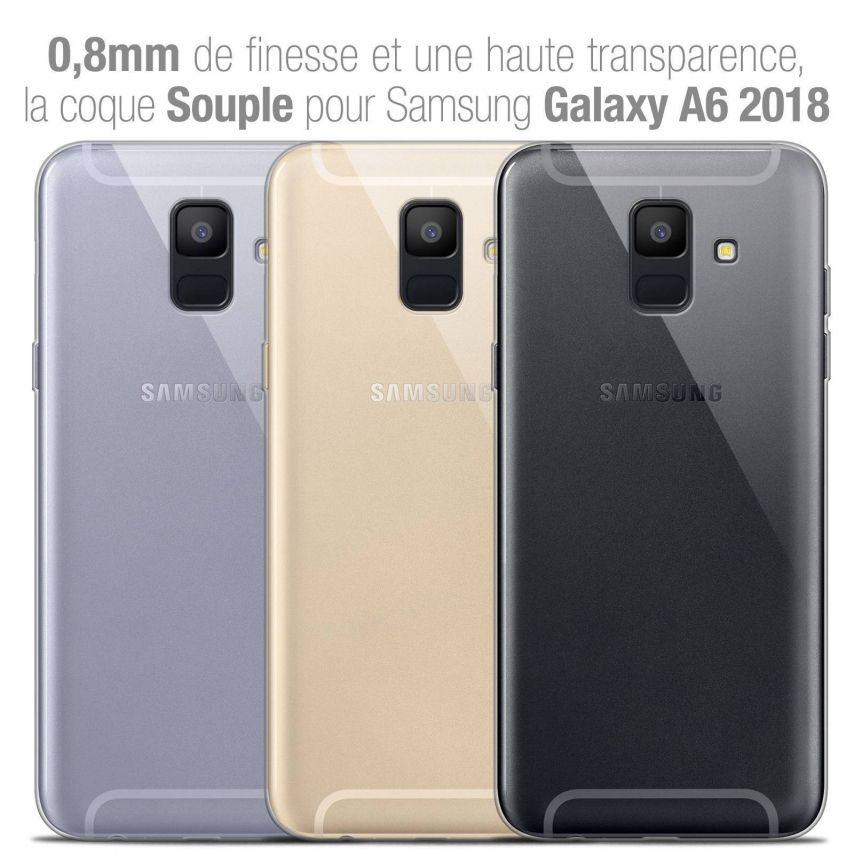 "Coque Samsung Galaxy A6 2018 (5.45"") Extra Fine Souple Crystal Clear"