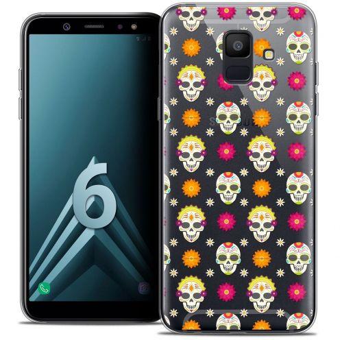 """Coque Crystal Gel Samsung Galaxy A6 2018 (5.45"""") Extra Fine Halloween - Skull Halloween"""
