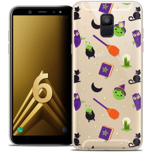"Coque Crystal Gel Samsung Galaxy A6 2018 (5.45"") Extra Fine Halloween - Witch Potter"